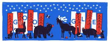American Flag Doodle Google Doodle Pays Homage To Nps On Fourth Of July Time