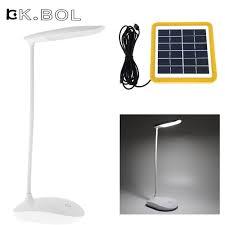 kk bol solar power led desk lamp usb rechargeable light 6w study