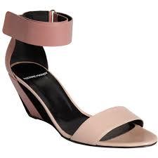 pierre hardy wide ankle strap wedge sandal in pink lyst