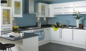 Cream Kitchen Cabinets With Blue Walls White Grey Kitchen Brown Wooden Kitchen Cabinet Cool Bar Stools
