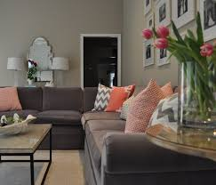 gorgeous coral gray and white family room gray sectional sofa