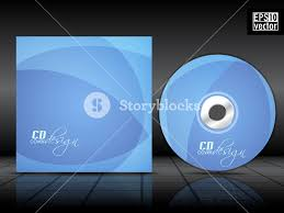 cd cover design template with blue background royalty free stock