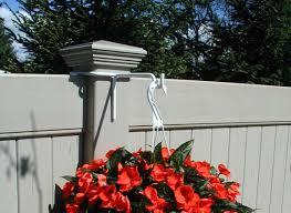 amazon com vinyl fence plant u0026 accessory post hanger white