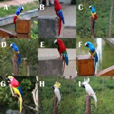 parrot home decor faux artificielle perroquet plumes oiseau jardin home decor