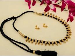 black thread bracelet images Gorgeous 22k gold black thread necklace latest south indian jpg