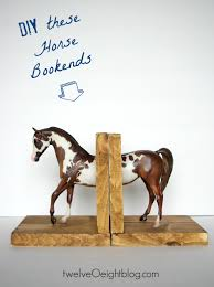 diy spotted horse bookends twelveoeight