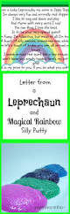 letter from a leprechaun printable and magical rainbow putty recipe