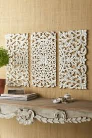 lennon maisy ornate wood carved wall set of 3 wall