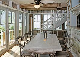 beach house dining room tables renovated beach house with rustic coastal interiors home bu on
