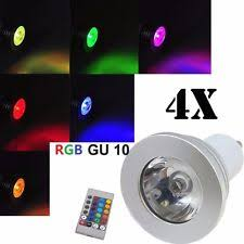 color changing light bulb with remote gu10 led bulbs colour changing ebay
