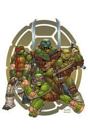 teenage mutant ninja turtles colour print michael walsh tmnt