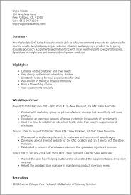 Warehouse Job Resume Skills by Professional Gnc Sales Associate Templates To Showcase Your Talent