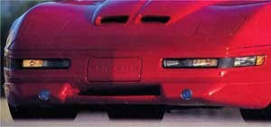 c4 corvette front spoiler c4 corvette 1991 1996 front spoiler w driving lights 3pc kit