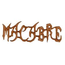 macabre laser cut wood word for altered and craft projects