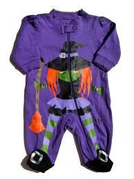 faded glory infant girls purple witch sleeper baby halloween