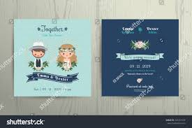 Beach Theme Wedding Invitations Wedding Invitation Card Beach Theme Cartoon Stock Vector 326321534