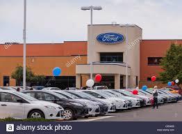 dealership usa ford dealership car sales lot california usa stock photo