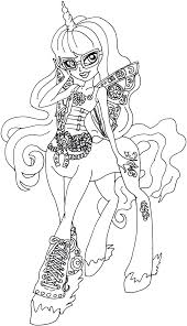 free printable monster high coloring pages penepole steamtail