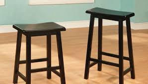 Wood Bar Stool With Back Bar Stool Black Wood Backless Bar Stools Black Wooden Saddle Bar