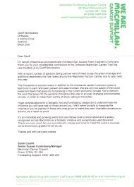charity fundraising invitation letter geoff stonebanks rosa botterill michele findlay clare mayers and my mother barbara stonebanks we received a great letter from macmillan about this years fundraising
