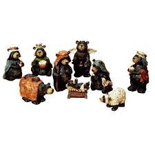amazon com kurt adler resin nativity bear 4 inch set of 9 home amazon com kurt adler resin nativity bear 4 inch set of 9 home kitchen