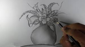 flower pencil sketch drawing flowers how to draw a rose with