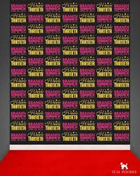 photo booth background birthday step and repeat backdrop for birthday party