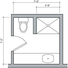 small bathroom floor plans with shower only three quarter bath