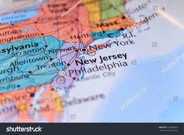 New York On Map New York New Jersey On Map Stock Photo 722834524 Shutterstock