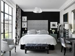bedroom compact decorating ideas with black furniture large brick