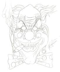 an evil clown tattoo design photo 2 real photo pictures