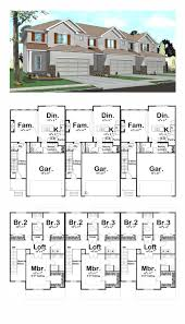 three unit triplex plan 41141 total living area 4935 sq ft