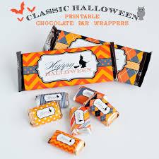 printable halloween chocolate bar wrappers anders ruff