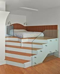 Raised Platform Bed Frame New York Elevated Platform Bed Bedroom Contemporary With Adaptive