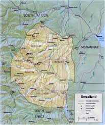 Africa Maps by Map Of Swaziland Travel Africa