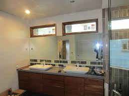 Custom Bathroom Mirror Bathroom Mirror With Lighting Cutouts La Jolla Patriot Glass