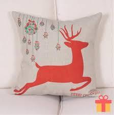 Sofa Cushion Cover Designs Christmas Home Decor Cotton Sofa Cushion Cover Santa Claus Linen