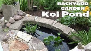 Backyard Pond Images Small Backyard Garden Koi U0026 Goldfish Pond Setup Youtube