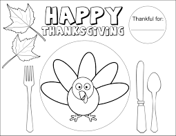 happy thanksgiving pictures to color thanksgiving coloring placemats u2013 happy thanksgiving