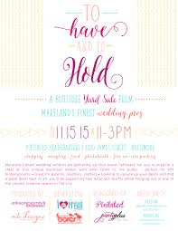 mlc designs baltimore maryland wedding invitations tohavetohold flyer