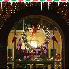 home decor drop shipping new hot sale christmas tree hanging fireplace window valance