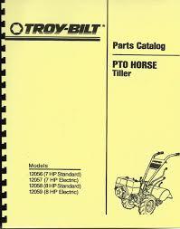 troy bilt horse tiller service manual owner parts catalog pto pony