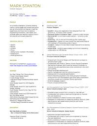 Product Resume Resume U2014 Mark Stanton Product Designer