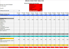 Cost Analysis Excel Template Even Analysis In Excel