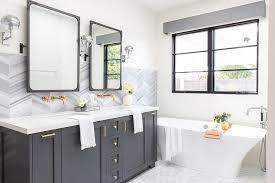 Contemporary Cornices White And Gray Master Bath With Gray Cornice Box Contemporary