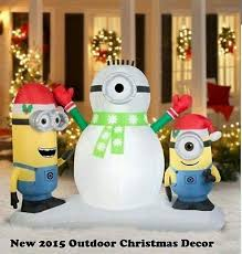 Christmas Yard Decor - blow up christmas decorations inflatables outdoor minion lighted