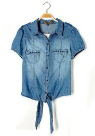 denim blouses blue embroidery lapel sleeve pockets denim blouse blouses