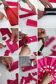 how to make a paper fan punched tissue paper fans diy