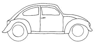 free vw bug craft template crafting goodness