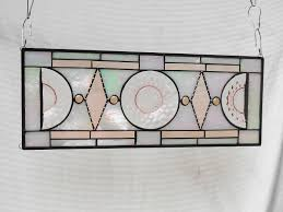 Vintage Transom Windows Inspiration Buy A Handmade Stained Glass Plate Panel Vintage Jeannette Cubist